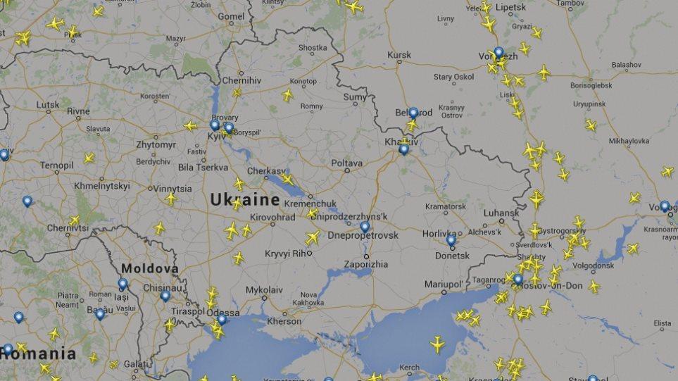 Ένας ουρανός... χωρίς αεροπλάνα πάνω από Ουκρανία και Συρία