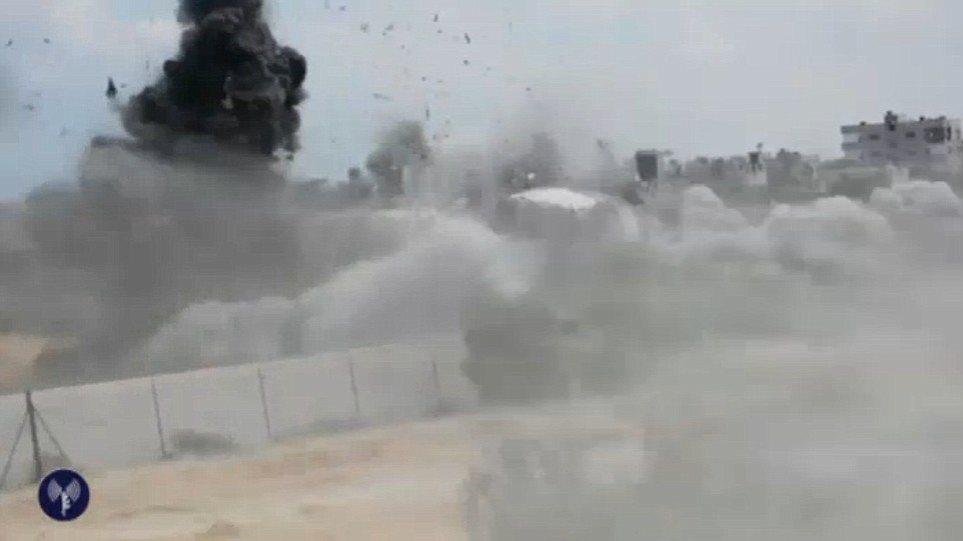 Βίντεο: Ισραηλινοί ανατινάζουν τούνελ σκοτώνοντας δέκα Παλαιστίνιους