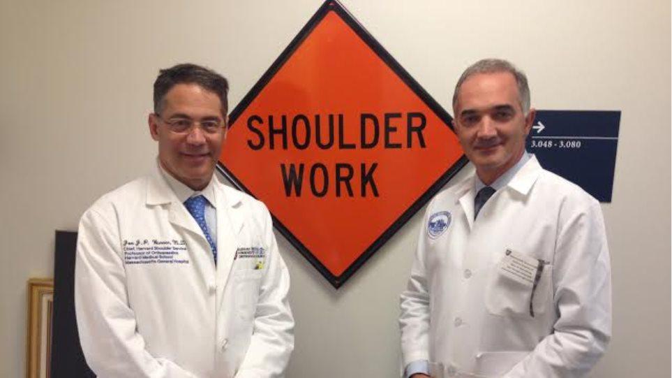 Στις ΗΠΑ για μετεκπαίδευση στην χειρουργική ώμου ο Μάριος Σαλμάς