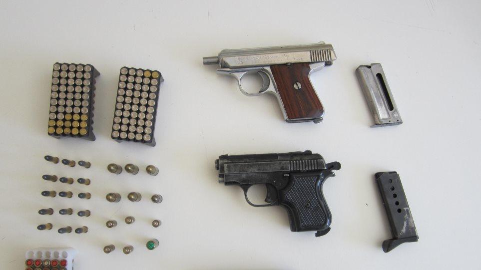 Συλλήψεις για μπαλωθιές και παράνομα όπλα στην Κρήτη