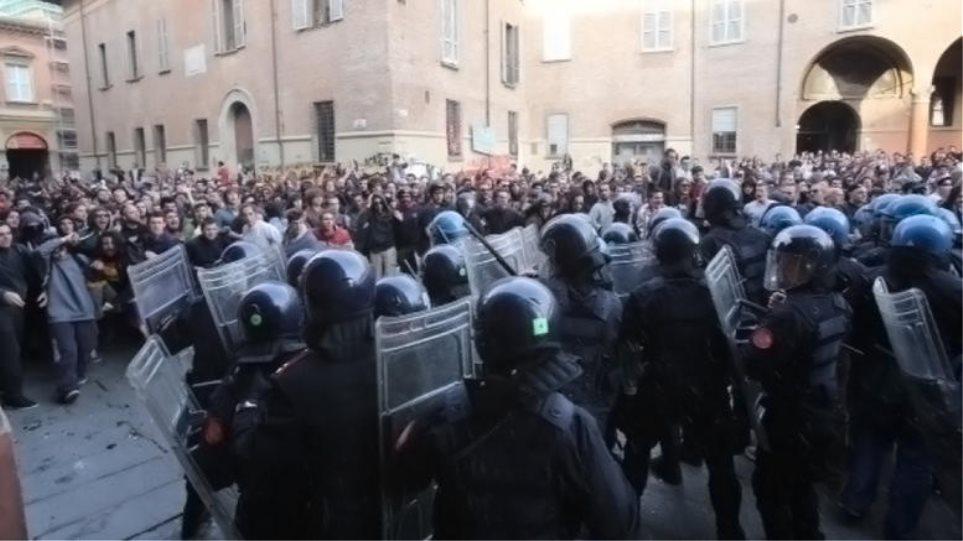 Συγκρούσεις διαδηλωτών - αστυνομίας στην Μπολόνια