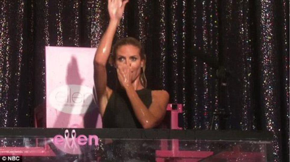 Η... βουτιά της Heidi Klum στην εκπομπή της Ellen DeGeneres