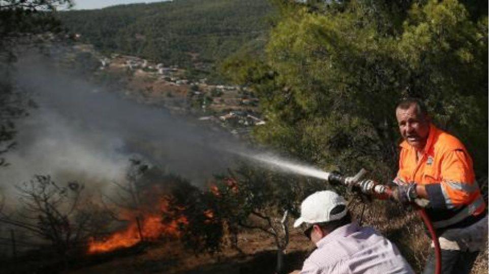 Πάτρα: Φωτιά στη λίμνη της Στροφυλιάς