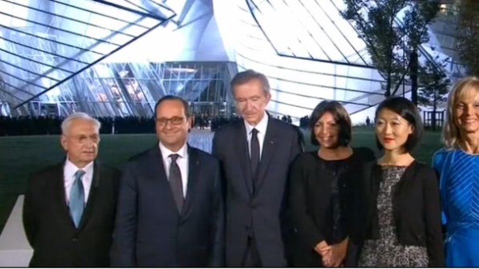 Γαλλία: Ο Ολάντ εγκαινίασε το Ίδρυμα Louis Vuitton