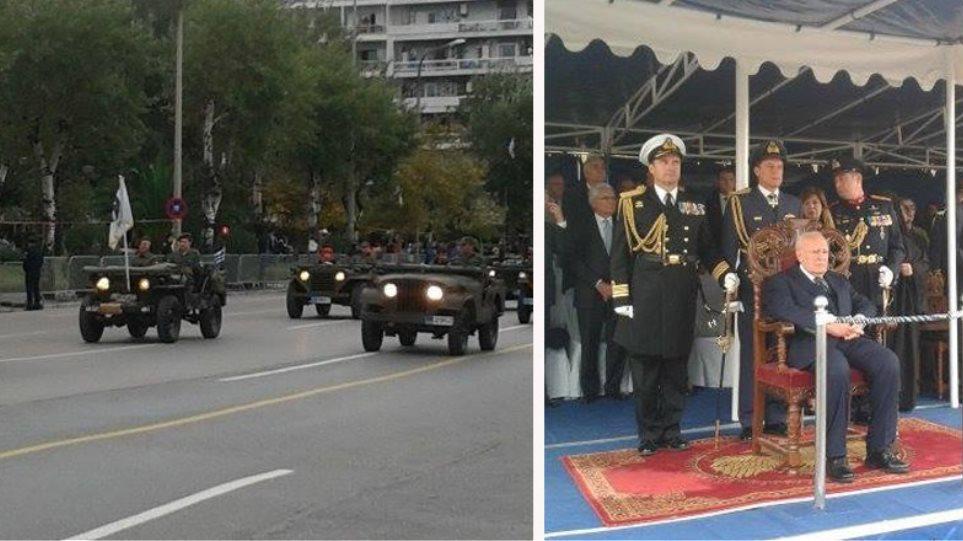 Συγκίνηση Παπούλια στη μεγάλη στρατιωτική παρέλαση στη Θεσσαλονίκη