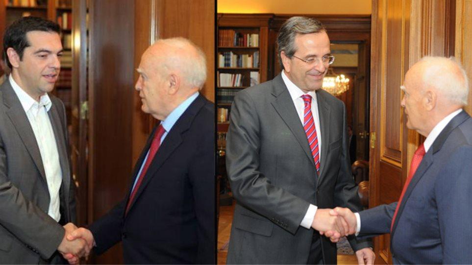 Διαδοχικές συναντήσεις με Τσίπρα και Σαμαρά θα έχει ο Κ. Παπούλια τη Δευτέρα
