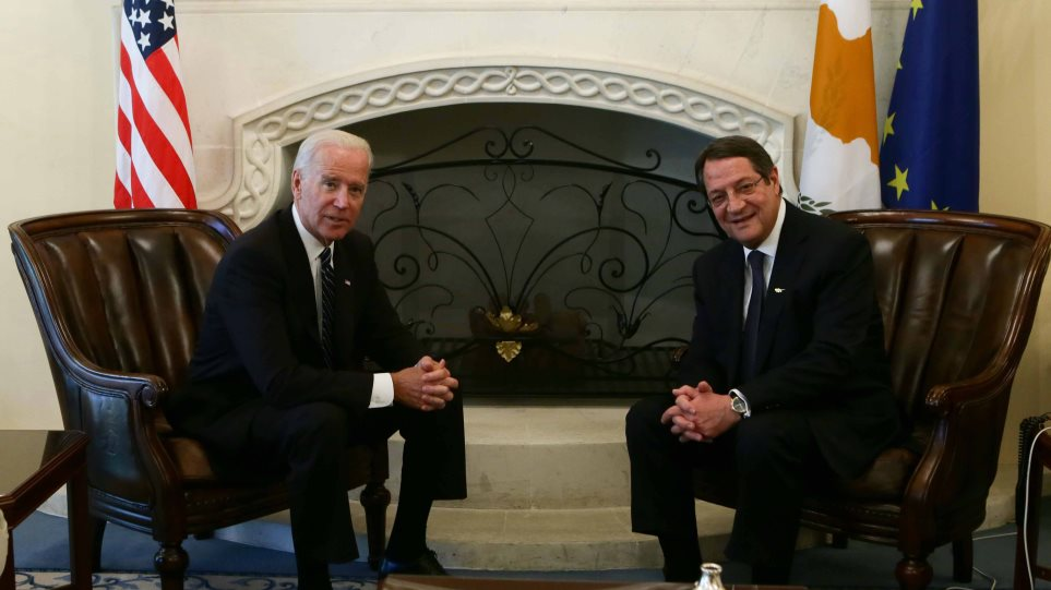 Μπάιντεν σε Αναστασιάδη: Η Κύπρος έχει δικαίωμα να αξιοποιήσει τους φυσικούς της πόρους
