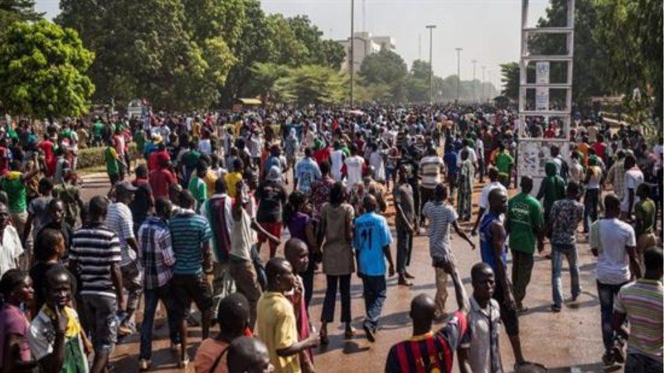 Μπουρκίνα Φάσο: Διαδήλωση κατά της κατάληψης εξουσίας από τον στρατό