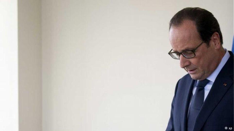 Ολαντ: Δεν θα είμαι υποψήφιος πρόεδρος ξανά αν δεν μειωθεί η ανεργία