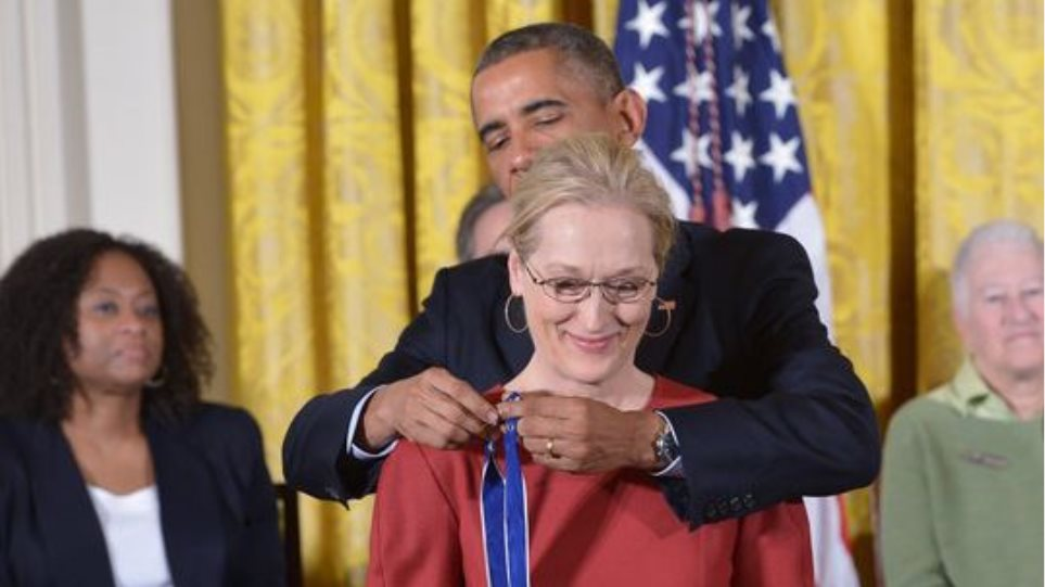 ΗΠΑ: Με το μετάλλιο της Ελευθερίας τιμήθηκαν οι Μέριλ Στριπ, Στίβι Γουόντερ και Έθελ Κένεντι