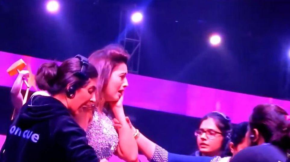 Χαστούκισε παρουσιάστρια on air επειδή... φορούσε κοντό φόρεμα!