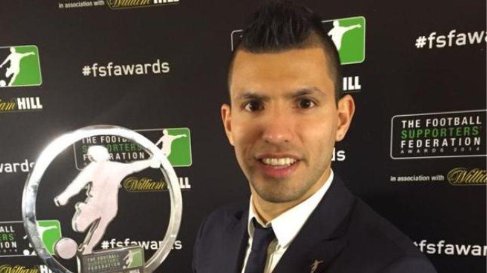 Κορυφαίος ποδοσφαιριστής της Αγγλίας για το 2014 ο Σέρχιο Αγκουέρο
