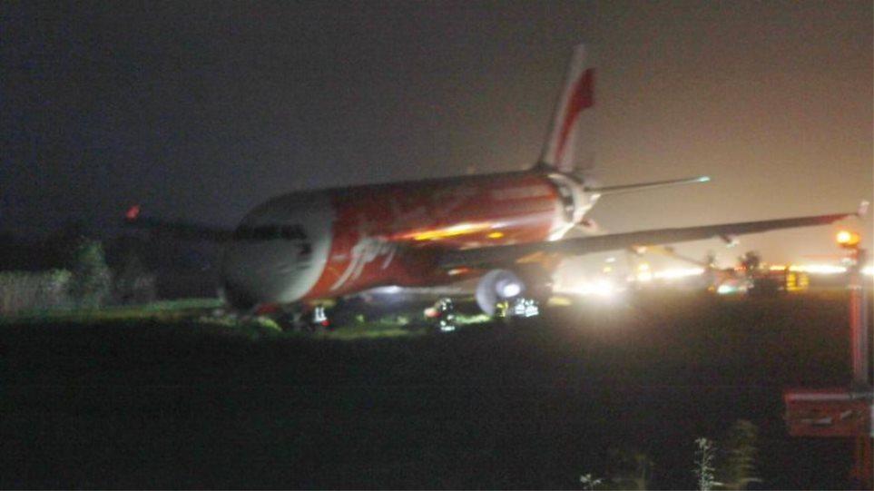 Φιλιππίνες: Αεροσκάφος της AirAsia βγήκε από το διάδρομο προσγείωσης