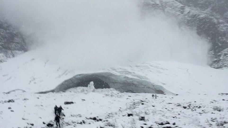 Δείτε πώς είναι να γλιτώνεις από μια χιονοστιβάδα