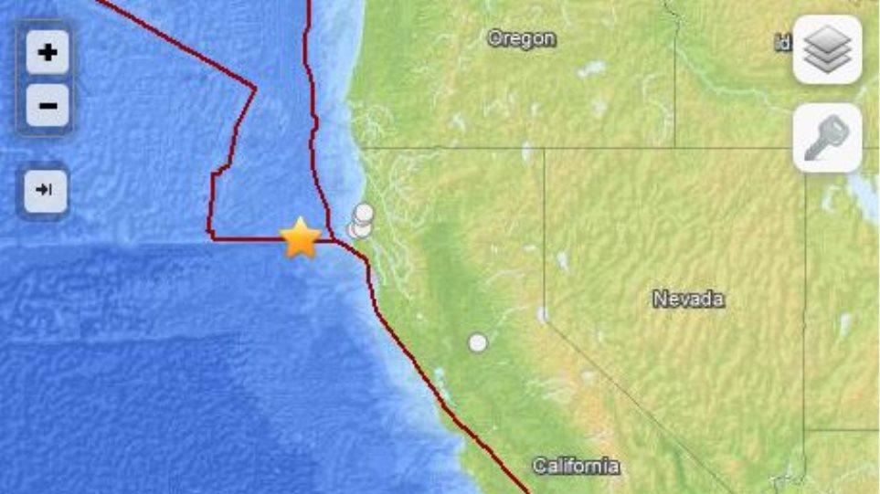 Σεισμική δόνηση 5,3 Ρίχτερ ανοιχτά των ακτών της Καλιφόρνια