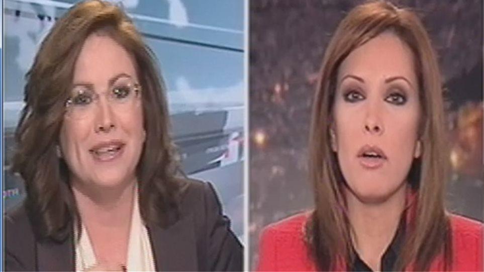 Σαράφογλου-Σπυράκη τσακώνονται στο δελτίο ειδήσεων του MEGA