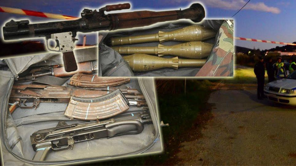Γιάφκα Αναβύσσου: Πρώτη φορά βρέθηκε τόσο βαρύς και εξελιγμένος οπλισμός
