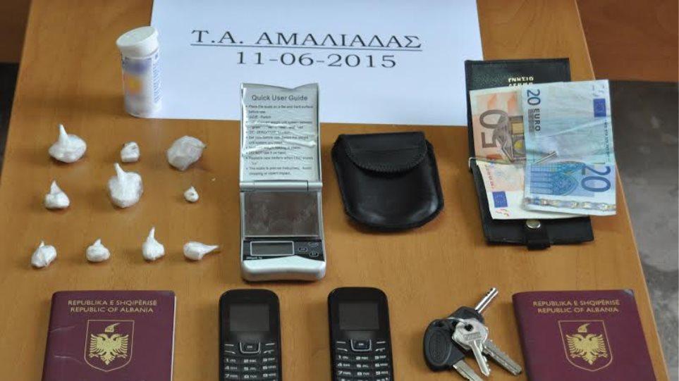 Αλβανός διακινητής κοκαΐνης συνελήφθη στην Αμαλιάδα