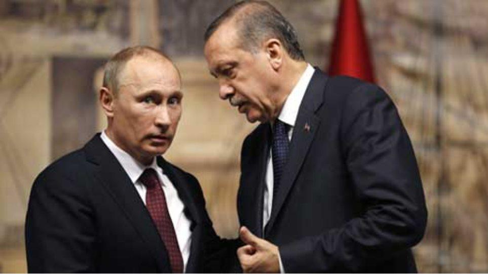 Συνομιλίες Πούτιν - Ερντογάν για ενέργεια και Συρία