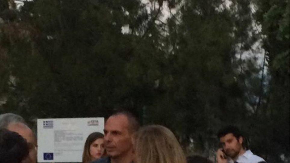 Στο Ηρώδειο ο Βαρουφάκης με τη Δανάη και την κόρη της