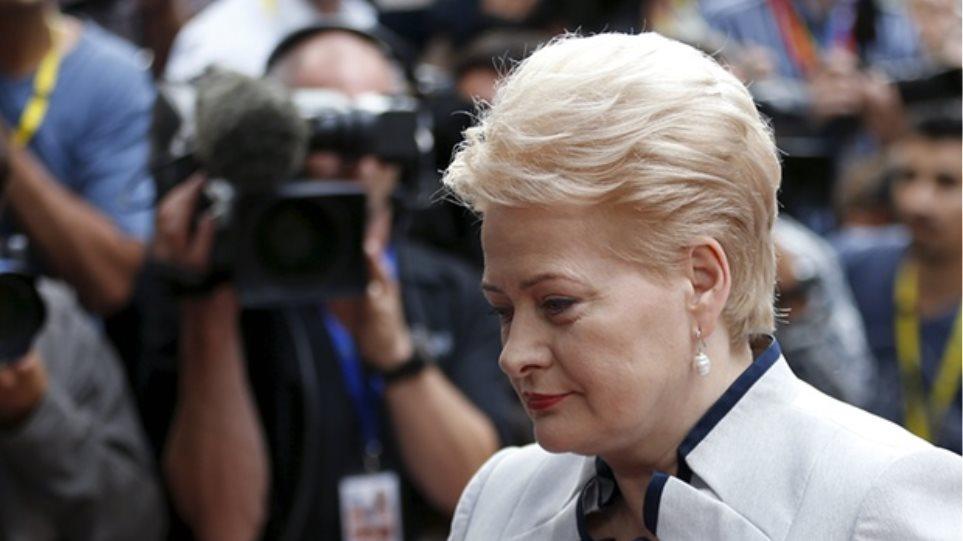 Λιθουανή πρόεδρος: Η ελληνική πρόταση βασίζεται σε παλιά στοιχεία