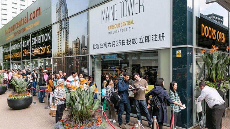 Λονδίνο: Ουρές Ελλήνων για αγορά  διαμερισμάτων σε ουρανοξύστη