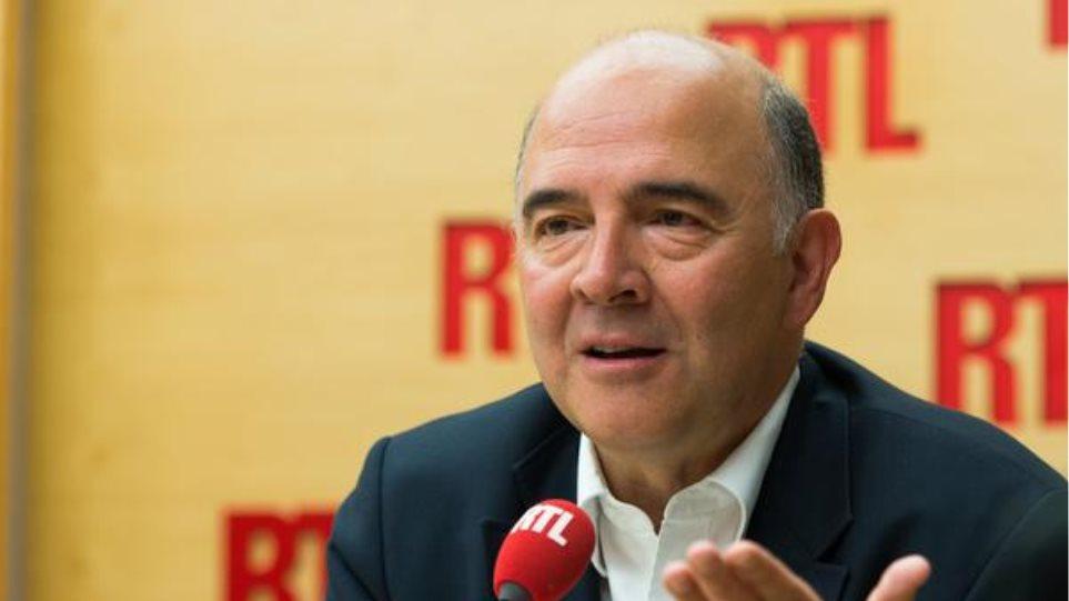 Μοσκοβισί: Υπάρχει κοινή θέληση να παραμείνει η Ελλάδα στο ευρώ
