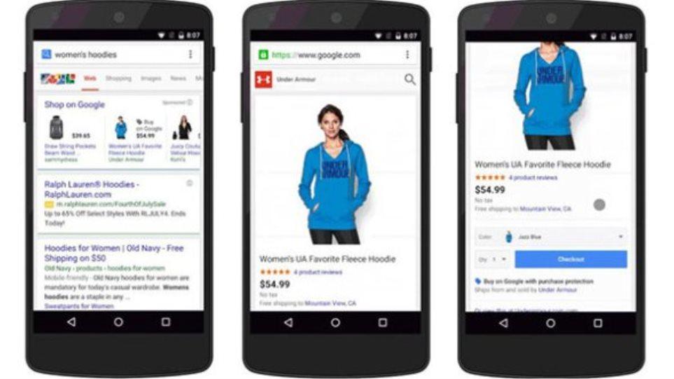 Buy on Google: Νέα λειτουργία απευθείας αγοράς από τα αποτελέσματα αναζήτησης