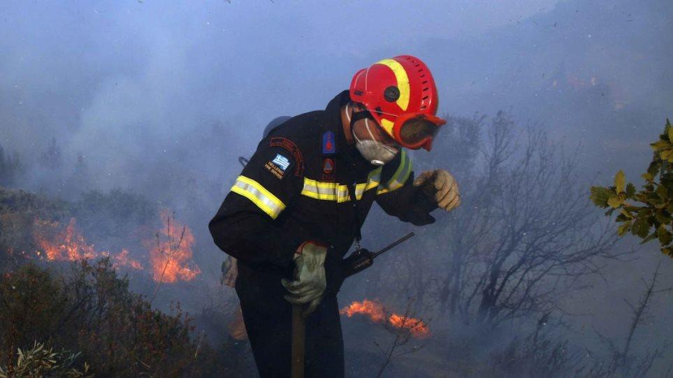 Σε ύφεση φωτιά κοντά στην Πάλαιρο Αιτωλοακαρνανίας