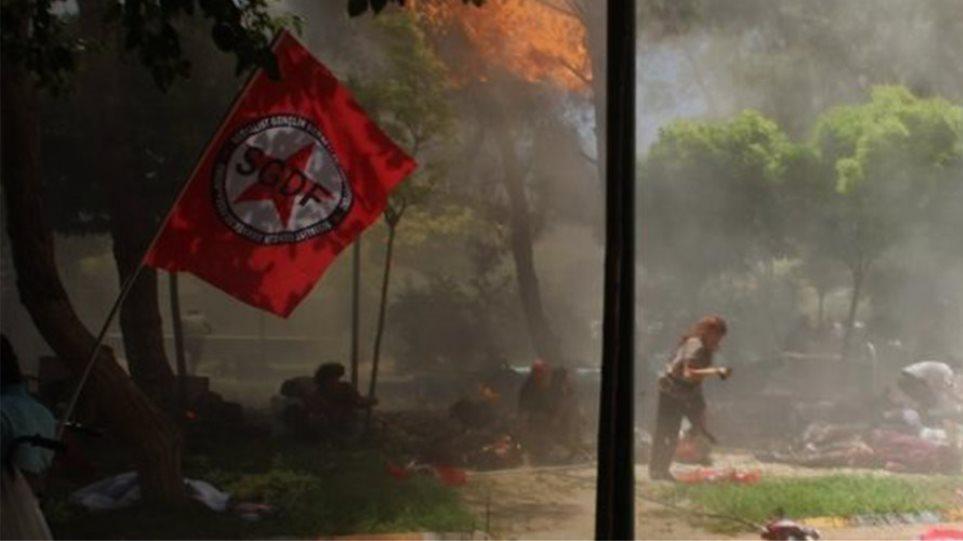 Βίντεο-σοκ: Η φονική έκρηξη στο Σουρούτς της Τουρκίας