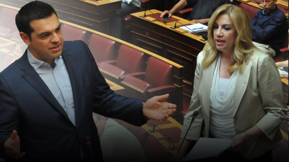 Τσίπρας: Λέτε σαχλαμάρες - Φώφη: Συνυπήρχατε απλά με το κόμμα της δραχμής;