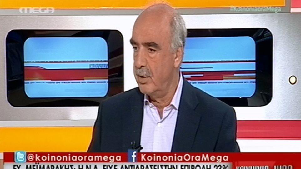 Μεϊμαράκης: Δεν ψηφίζω φορολόγηση των αγροτών - Ο ΣΥΡΙΖΑ θέλει το 23% στην εκπαίδευση