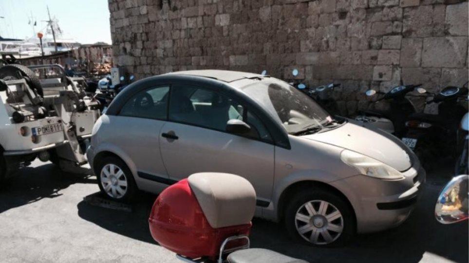 Βάνδαλοι καταστρέφουν λάστιχα αυτοκινήτων στη Ρόδο