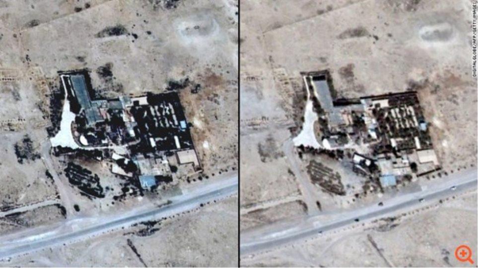 Παλμύρα: Δορυφορικές φωτογραφίες επιβεβαιώνουν την καταστροφή του ναού του Βήλου