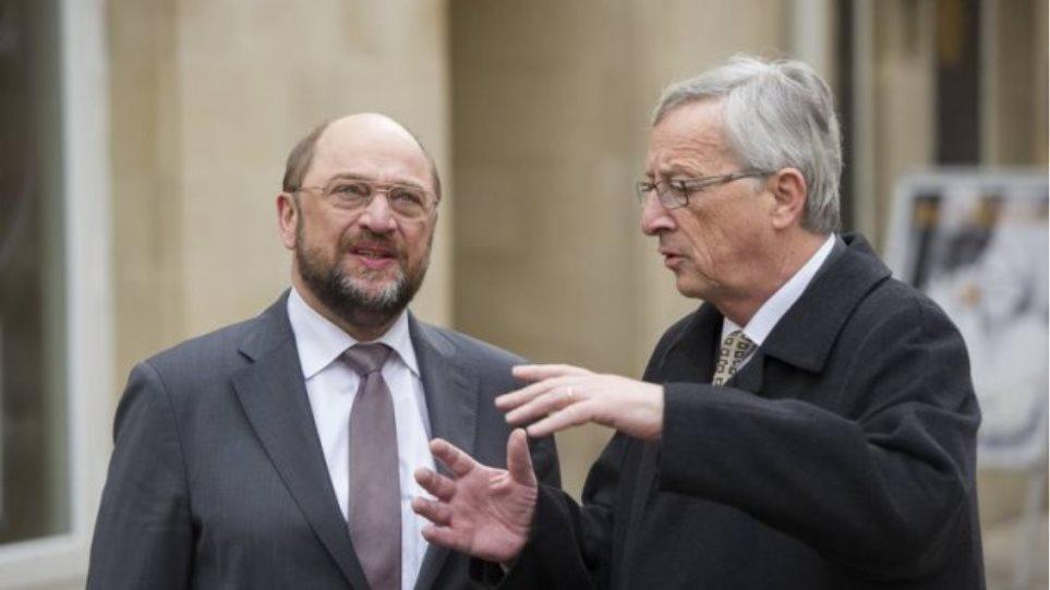 Γιούνκερ και Σουλτς θα εξετάσουν τον ρόλο της ευρωβουλής στο ελληνικό πρόγραμμα