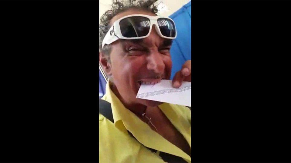 Βίντεο: Αυτός ο ψηφοφόρος έριξε... Λεβέντη δαγκωτό!
