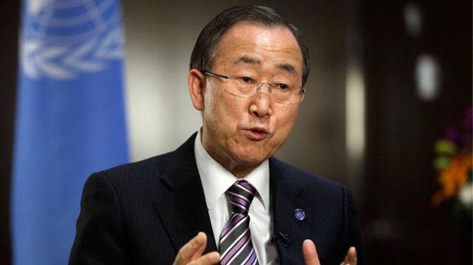 Την έντονη ανησυχία του για το προσφυγικό εξέφρασε ο Μπαν Γκι Μουν