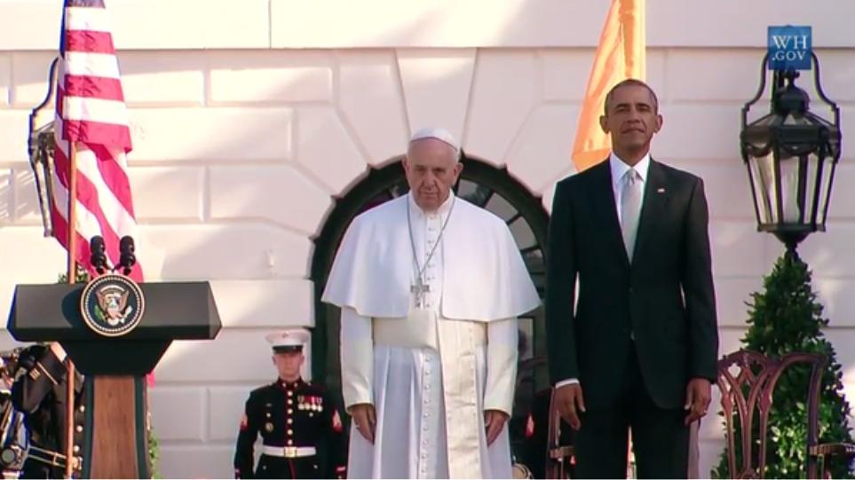 Φωτογραφίες: Στον Λευκό Οίκο ο Πάπας Φραγκίσκος