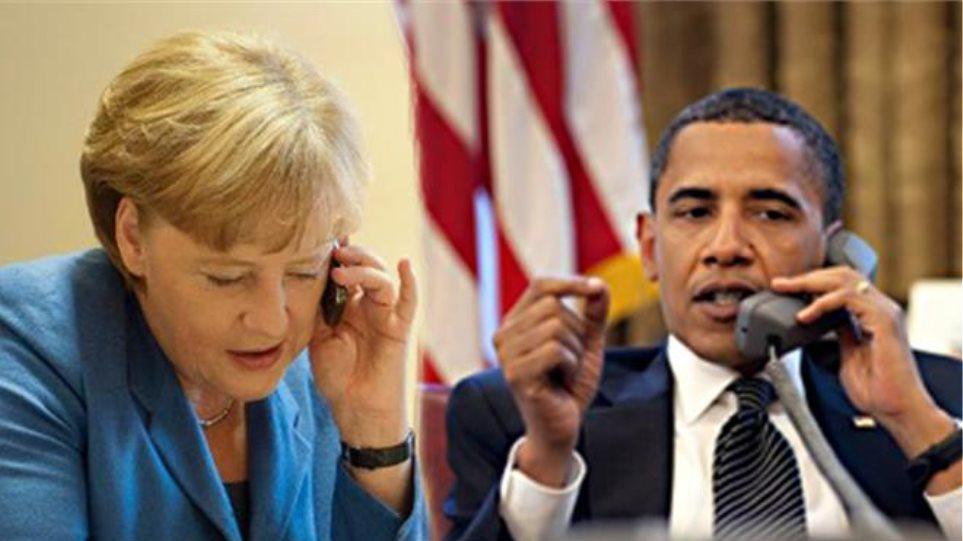 Τηλεφωνική συνομιλία Ομπάμα - Μέρκελ για τους πρόσφυγες
