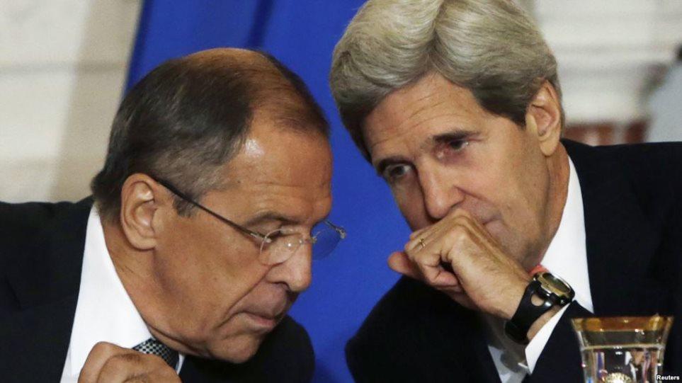 Τηλεφωνική επαφή Λαβρόφ – Κέρι για την κατάσταση στη Συρία