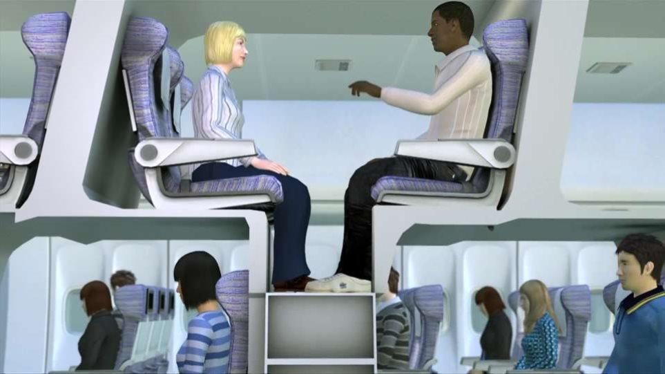 Βίντεο: Δείτε τα απίστευτα νέα καθίσματα που εξετάζει η Airbus για τα αεροπλάνα της