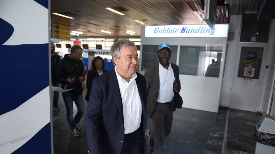 Επίσκεψη του Ύπατου Αρμοστή του ΟΗΕ στον χώρο φιλοξενίας προσφύγων στον Ελαιώνα