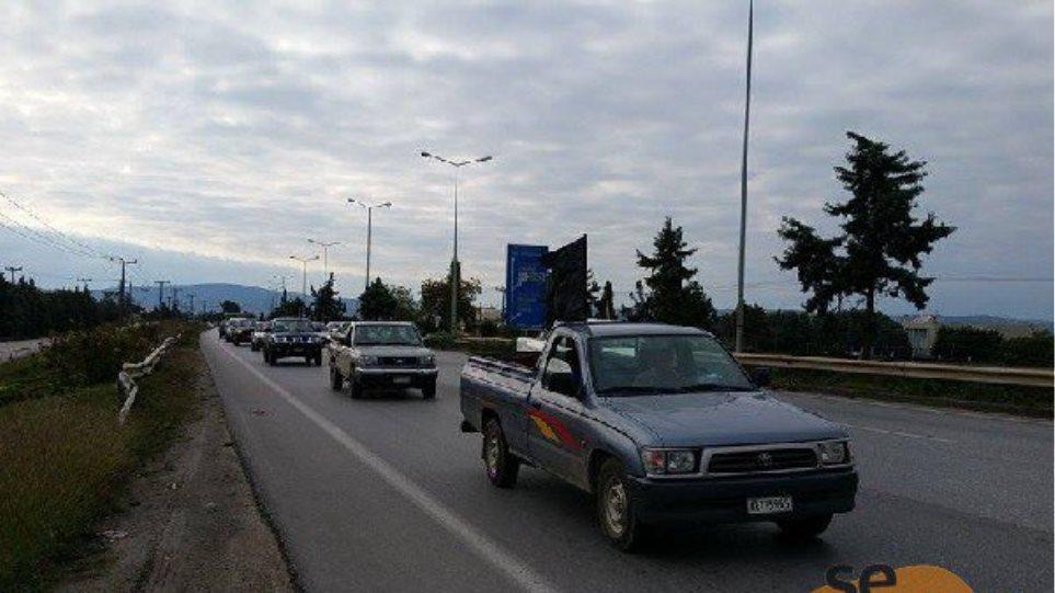 Πορεία προς το υπ. Μακεδονίας-Θράκης από αγρότες