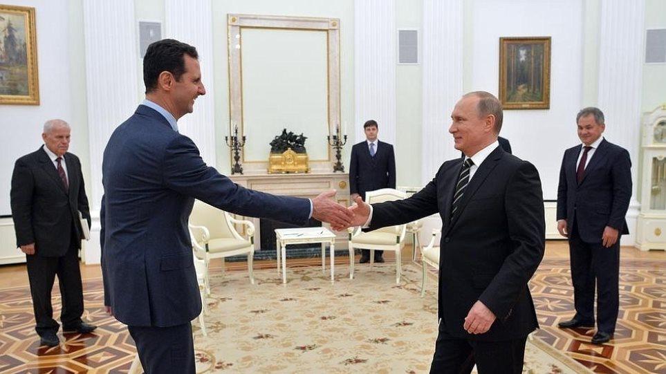 Μυστική συνάντηση Πούτιν-Άσαντ στη Μόσχα