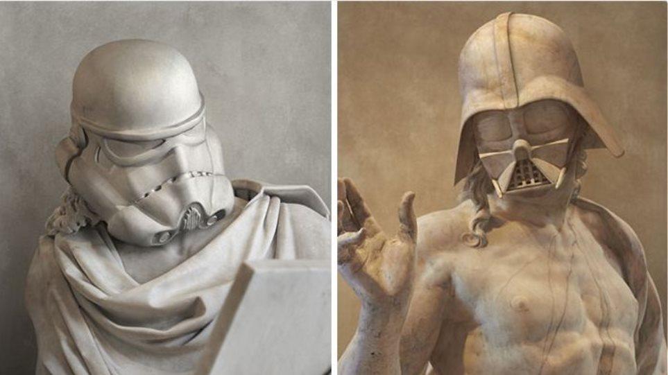Καλλιτέχνης αναπαριστά τους χαρακτήρες του Star Wars ως... αρχαιοελληνικά αγάλματα
