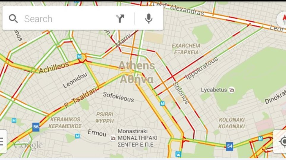 Google Maps Twra Kai Me Real Time Enhmerwsh Gia Thn Kinhsh Stoys