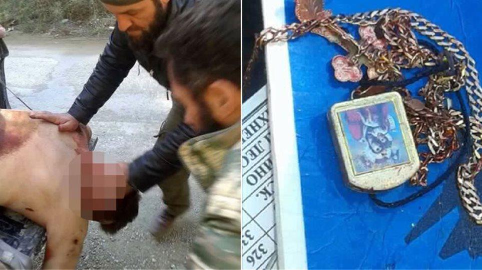 Σκληρές εικόνες: Οι Τουρκομάνοι περιφέρουν τη σορό του πιλότου στην καρότσα φορτηγού