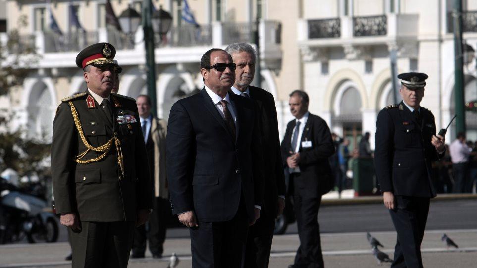 Τη συνεργασία Ελλάδας-Αιγύπτου κατά της τρομοκρατίας, ζήτησε ο Αλ Σίσι