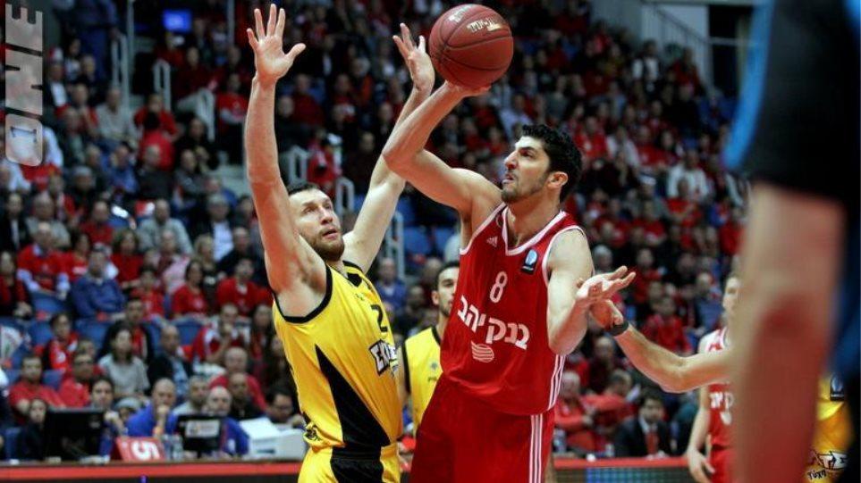 Πέταξε την ευκαιρία η ΑΕΚ, ήττα 82-78 από τη Χάποελ στα Ιεροσόλυμα