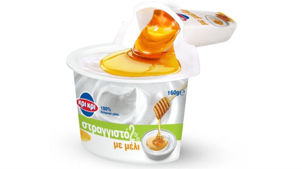 Νέο απολαυστικό στραγγιστό γιαούρτι Κρι Κρι 2% με μέλι!